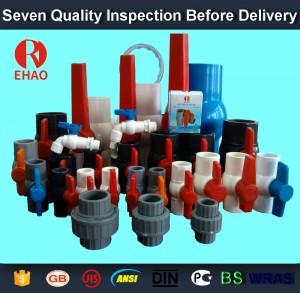 """2 """"(63mm) runden kompakten PVC-Kugelhahn Klebestutzen, Kunststoff-Kugelhahn"""
