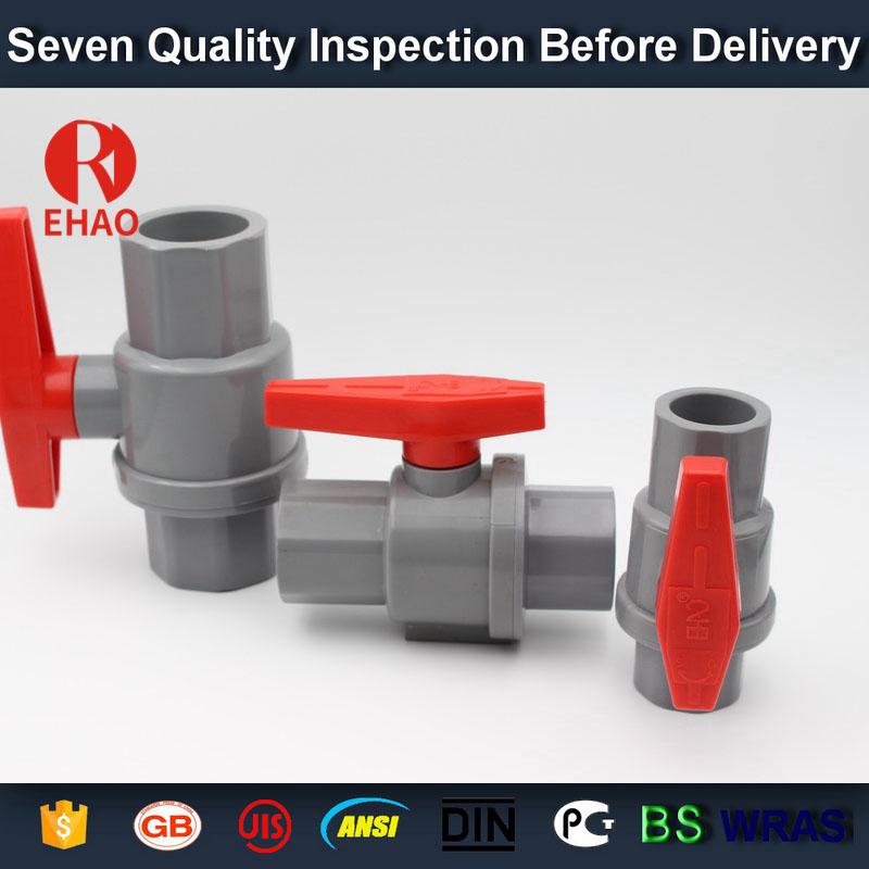 "1"" (32mm)  plastic PVC pvc 2-piece ball valve ABS hadle socket slip x slip solvent, thread x thread assembly"