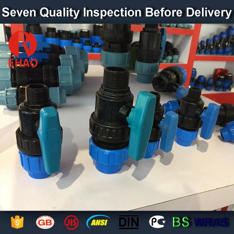 "1"" socket /thread + sokect  PVC single union ball valve, solvent end"
