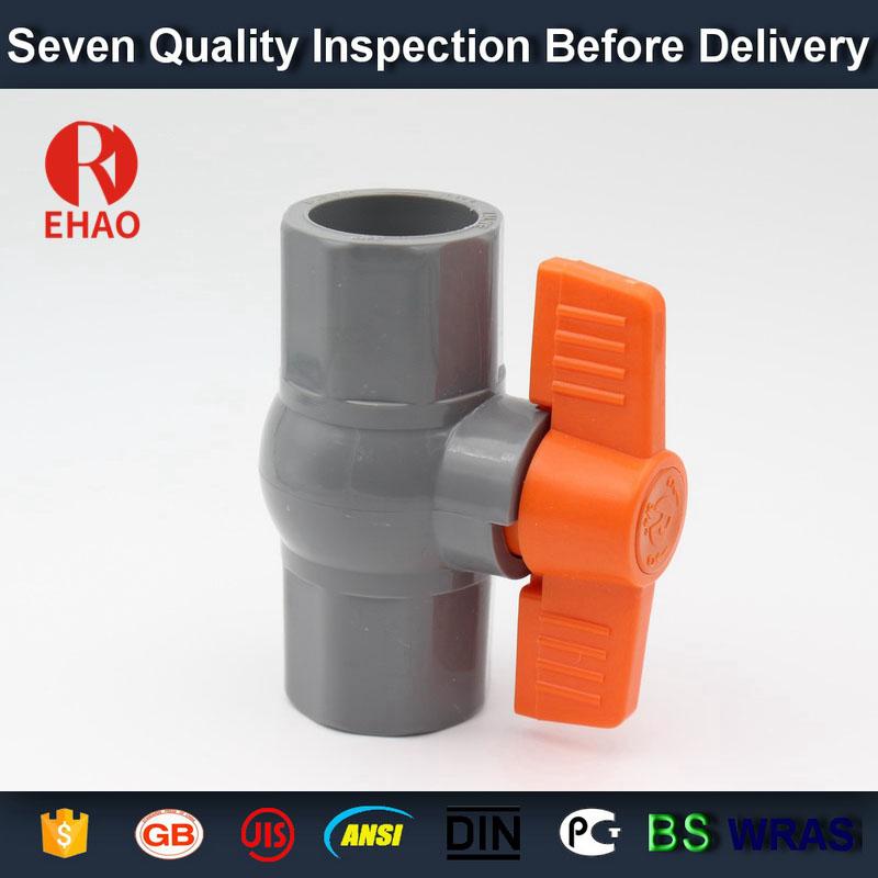 "3/4"" (25) glue end PVC octagonal compact ball valve solvent socket"