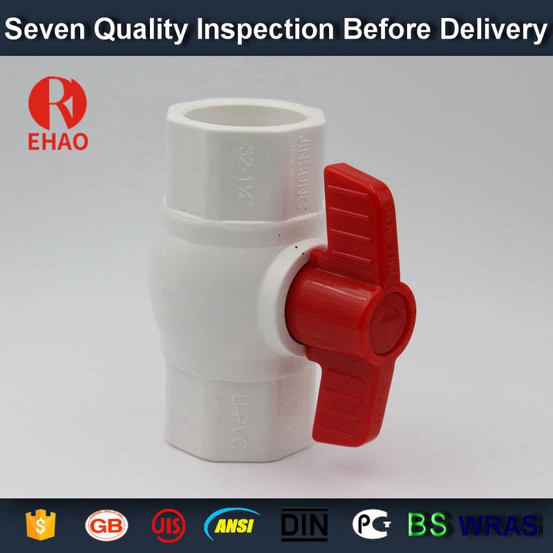 "2"" (63) PVC octagonal compact ball valve schedule 40, inline, socket FNPT,china"