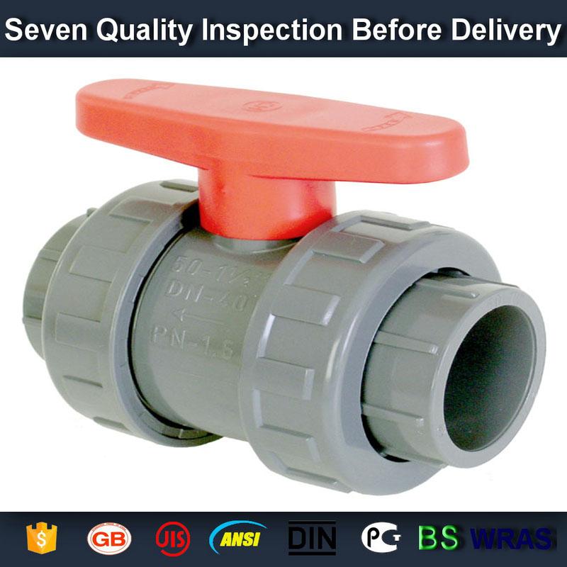 "1/2"" PVC True union slip X slip ball valve"