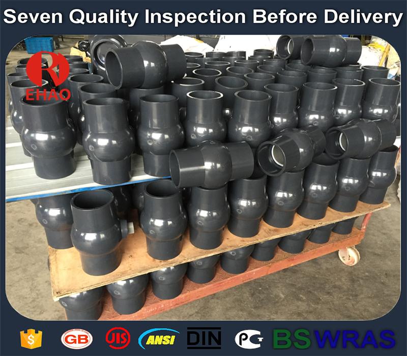 "4"" (110mm)   round compact PVC ball valve glue end , 4 inch Plastic ball valve"