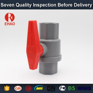 "1-1/4"" (40mm)  plastic PVC pvc 2-piece ball valve ABS hadle socket slip x slip solvent, thread x thread assembly"