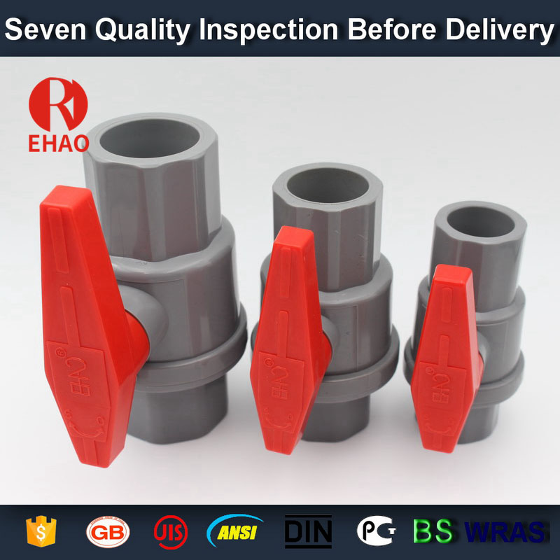 "1-1 / 2 ""(50mm) plast PVC PVC 2-piece kulventil ABS Hadle uttag slip x slip lösningsmedel, gänga x gängenhet"
