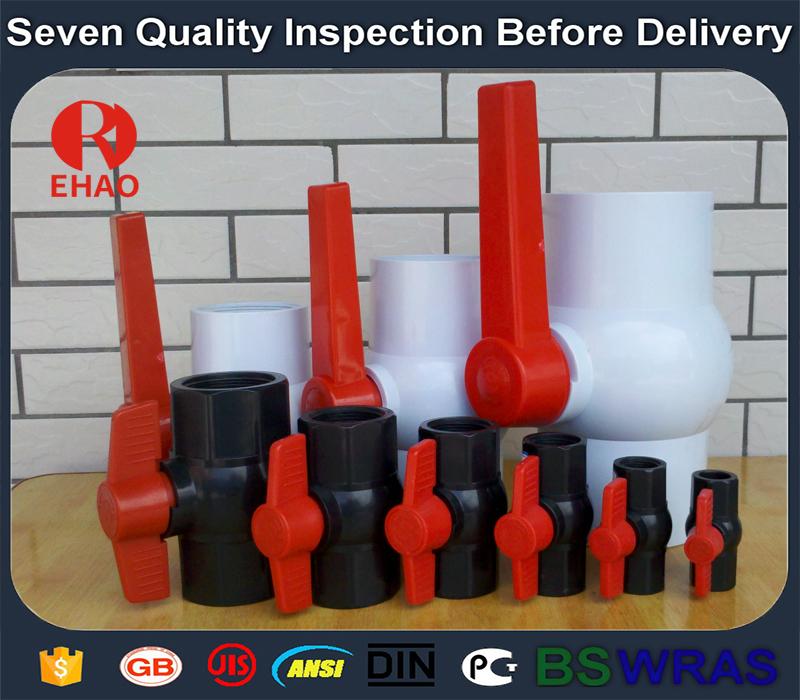 4 pouces (110) octogonale compact pvc vanne à boisseau sphérique fin de colle importateur