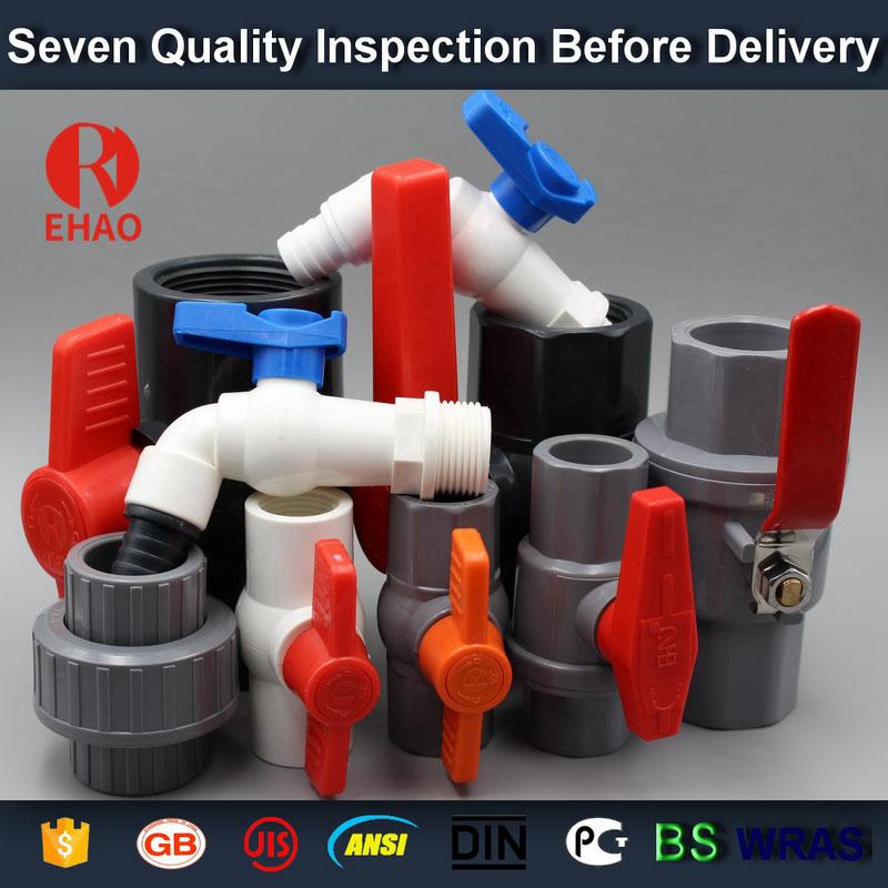 "4""  PVC ball valve threaded FNPT manufacturing process"
