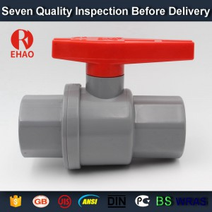 20mm Quality hot-sale  plastic pvc 2-piece ball valve ABS hadle socket slip x slip