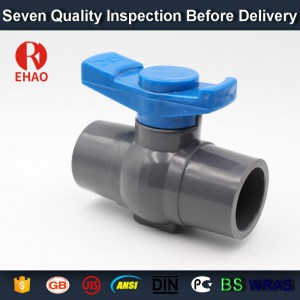 "2-1/2""(75mm)   round compact PVC ball valve glue end , Plastic ball valve"