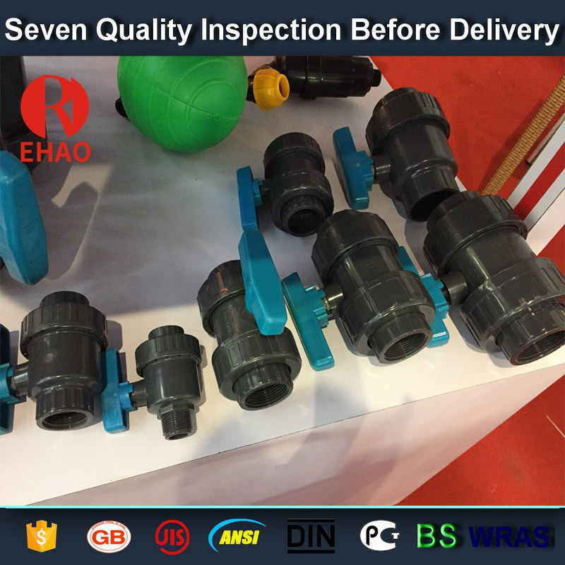 """10 Years manufacturer 2"""" socket /thread + sokect  PVC single union ball valve, solvent end Supply to Toronto"""