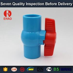"1""(32mm)  PVC round compact ball valve solvent socket, shc. 40 slip x slip"