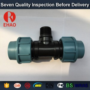 """13 Years Factory wholesale 20×1/2""""x20 Bottom price antique pp male tee thread hose and fittings Supply to Czech"""