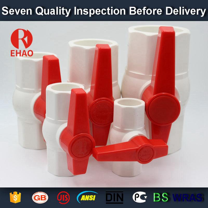 3 inch (90)  octagonal compact pvc ball valve glue end wholesale