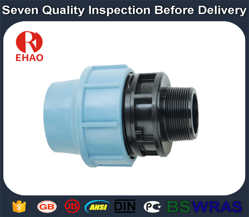 """13 Years Factory 20×1/2"""" New coming Crazy Selling hdpe pipe fitting of male threaded coupling  in Kenya"""