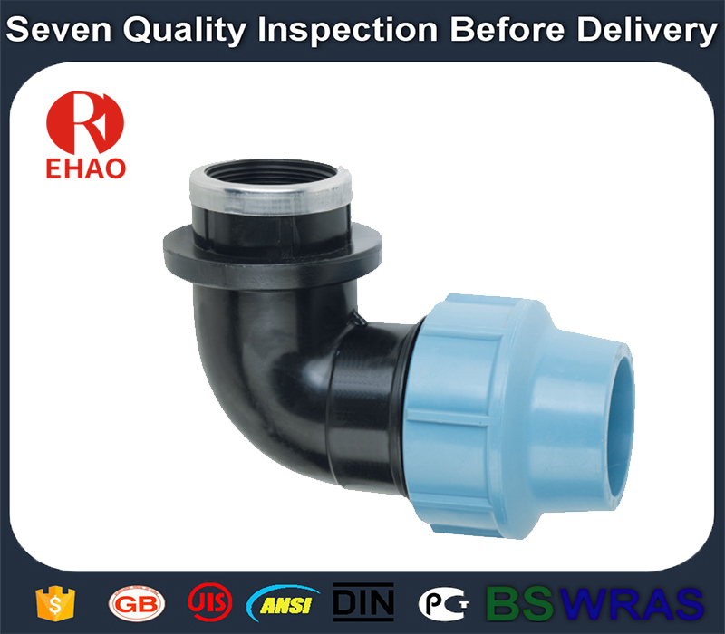 """20×1/2"""" Top level useful pp male female thread elbow fittings"""