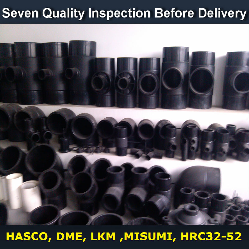 injection molding components , PP HDPE fittings mold