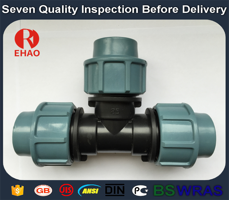 20x20x20mm Excellent quality promotional hdpe equal tee for pipe connection