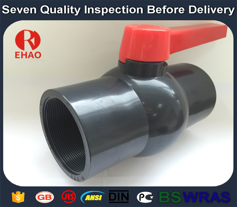 "1"" 770 PVC round compact ball valve thread ends"
