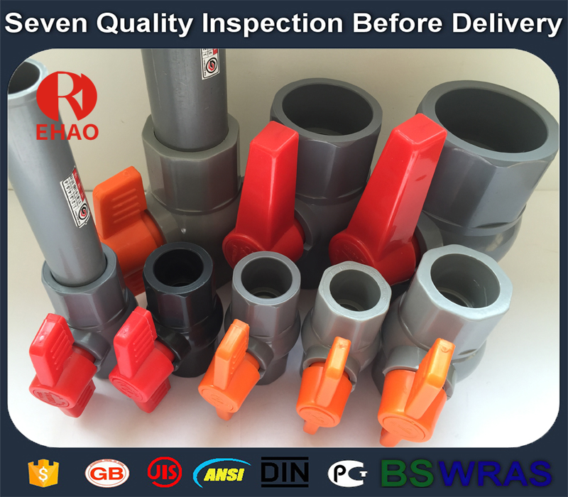 "1-1/2"" (50) 770 PVC octagonal compact ball valve solvent ends factory"