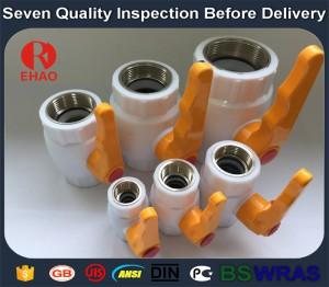 "1"" Plastic PPR ball valve metal thread FPT x FPT"