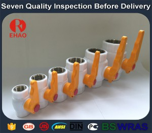 "1-1/4"" Plastic PPR ball valve metal thread FPT x FPT"