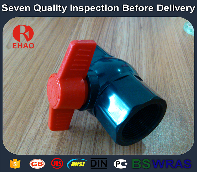 """1-1/2"""" pvc ball valve schedule 80 threaded FPT x FPT"""