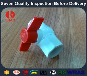 "2-1/2"" (75)  octagonal compact pvc ball valve glue end for sale"