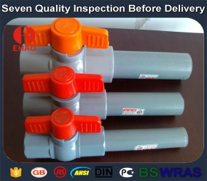 """2016 China New Design 2"""" pvc ball valve wholesale threaded FPT x FPT Factory in Dominica"""